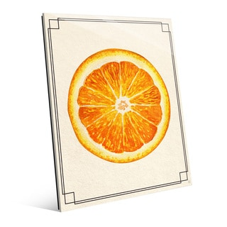 Orange Slice Wall Art Print on Glass