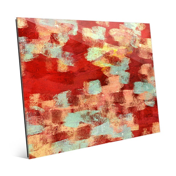 Stream of Consciousness Red Wall Art on Acrylic