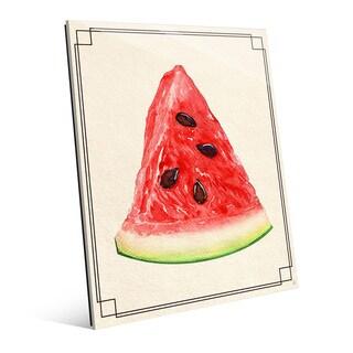Watermelon Slice Wall Art Print on Glass