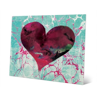 Teal Tale Heart Wall Art Print on Metal
