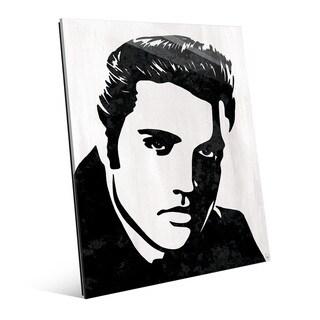 Elvis Presley Bl&W Wall Art Print on Acrylic