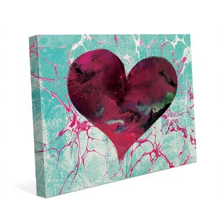 Teal Tale Heart Wall Art Print on Canvas