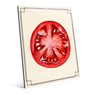 Tomato Slice Wall Art Print on Acrylic