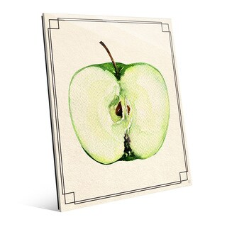 Apple Half Wall Art Print on Acrylic