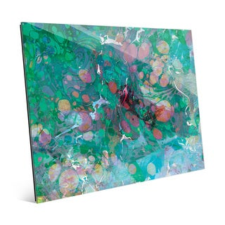 Spotty Malachite Slick Wall Art Print on Glass