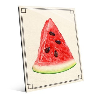 Watermelon Slice Wall Art Print on Acrylic