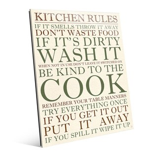 Kitchen Rules Green Wall Art Print on Acrylic