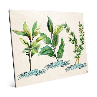Herb Trio Blue Wall Art Print on Acrylic