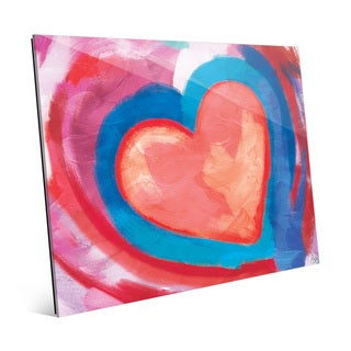 Swimming Pink Heart Wall Art Print on Acrylic
