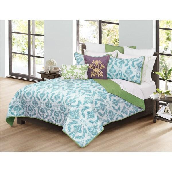 Capri Aqua 3-piece Quilt and Shams Set