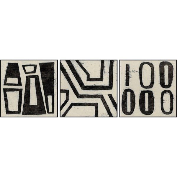 Hieroglyph Triptych - Multi-color