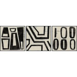 Hieroglyph Triptych - Black