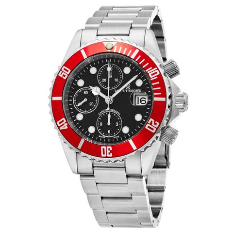 Revue Thommen Men's 17571.6136 'Diver' Black Dial Stainless Steel Chronograph Swiss Automatic Watch