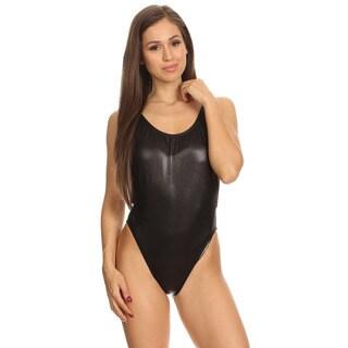 Dippin' Daisy's Black Nylon/Spandex High-cut Vintage One Piece Swimsuit