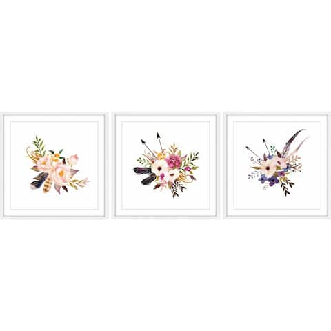 Marmont Hill - Handmade Flower Bunch Triptych