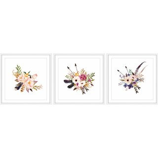 Flower Bunch Triptych
