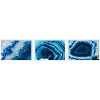 Icy Blue Veins Triptych
