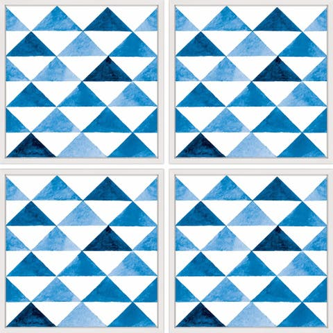 Marmont Hill - Handmade Triangle Board Quadriptych - multi