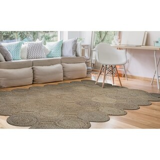 Couristan Nature's Elements Henge/Straw Hand-loomed Rug - 8' x 11'