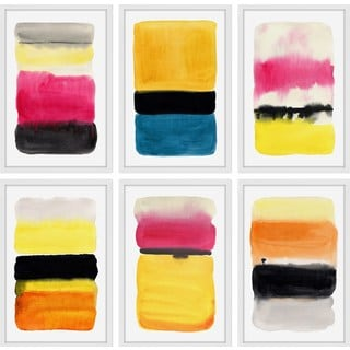 Vibrant Colors Hexaptych
