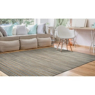 Couristan Inc Nature's Elements Lodge Grey Straw Hand-Loomed Rug (2' x 3')