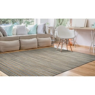 Couristan Nature's Elements Lodge/Straw-Grey Area Rug - 6' x 9'