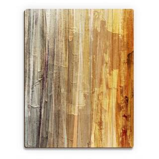 Spectrum Yellow Wall Art Print on Wood
