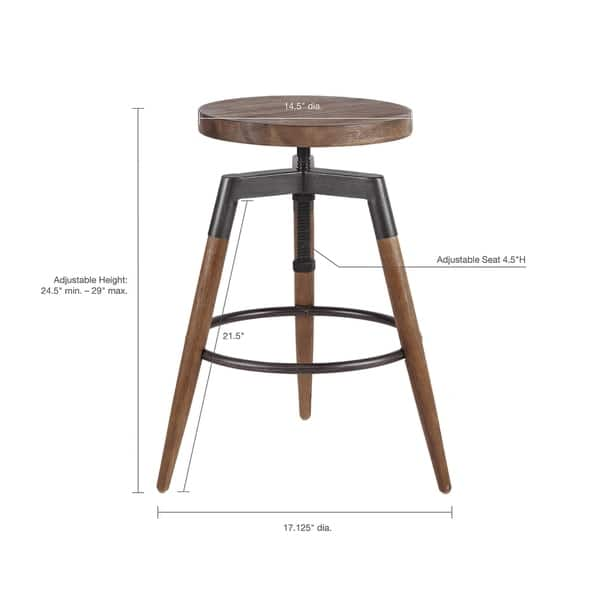 Fine Shop Ink Ivy Frazier Brown Adjustable Counter Stool Pdpeps Interior Chair Design Pdpepsorg