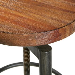 INK+IVY Frazier Brown Adjustable Counter Stool/ Barstool