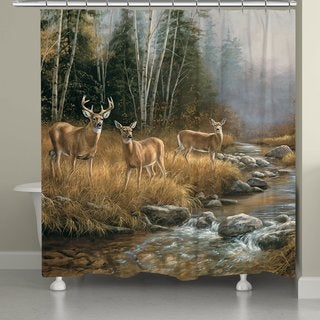 Laural Home Buck with Does Shower Curtain