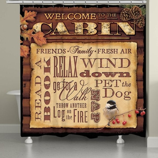 Shop Laural Home Cabin Life Shower Curtain