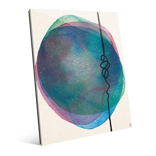 Watercolor and String Wall Art Print on Glass