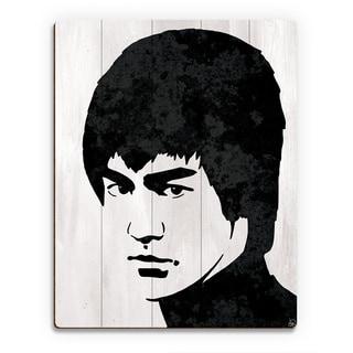 Bruce Lee Wall Art Print on Wood