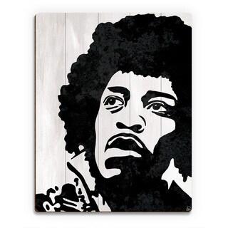 Jimi Hendrix Wall Art Print on Wood