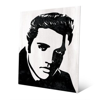 Elvis Presley B&W Wall Art Print on Metal