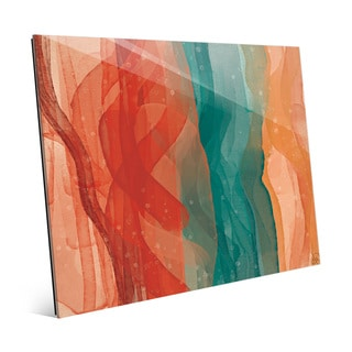 Waves in Flames Wall Art Print on Glass