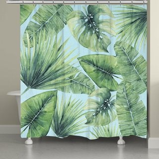 Laural Home Palm Leaves in Paradise Shower Curtain