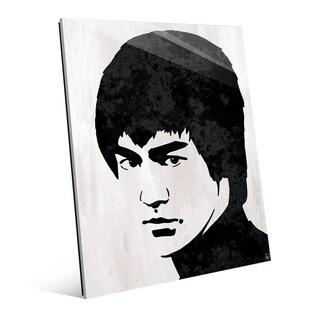 Bruce Lee Wall Art Print on Glass
