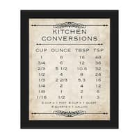 Kitchen Conversions Tan Framed Canvas Wall Art