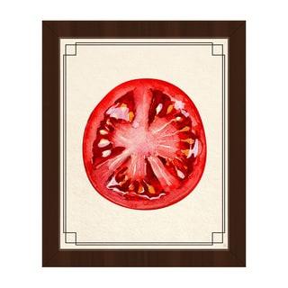Tomato Slice Framed Canvas Wall Art Print