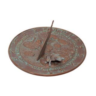 White Hall Copper Verdigris Frog Sundial