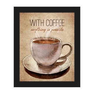 With Coffee it's Possible Framed Canvas Wall Art