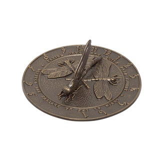 Whitehall Dragonfly Brown Aluminum Sundial