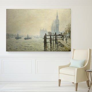 Claude Monet 'Thames at Westminster' Wrapped Canvas Art