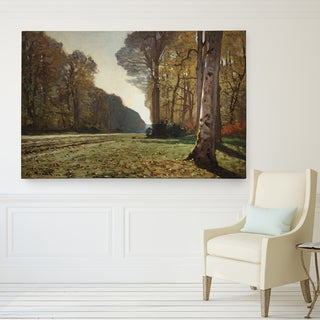 Claude Monet 'The Road of Chailly' Wrapped Canvas Art