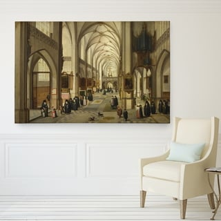 Gothic Church Hand-wrapped Canvas Print