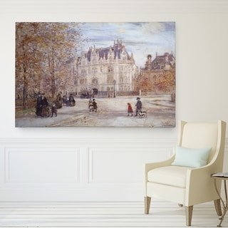 Raffaelli 'The Fletcher Mansion' Wrapped Canvas Art