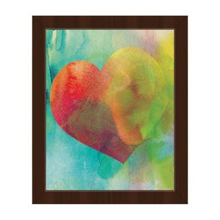 Vermillion Heart Wash Framed Canvas Wall Art Print