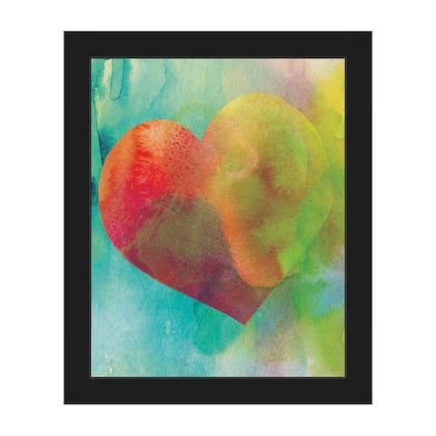 Vermillion Heart Wash Framed Canvas Wall Art Print