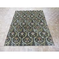 William Morris Oushak Brown Hand-knotted Wool Oriental Rug (7'11 x 9'10)